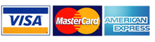 Accepted Payment Methods:  Visa, Mastercard, American Express, Discovery Card